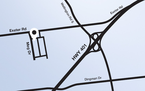 Map of area around 60 Meg Dr Unit 3